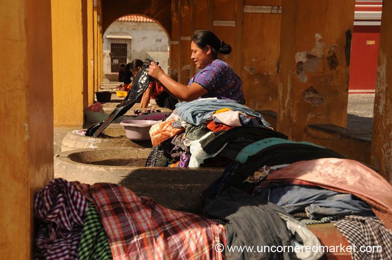 Public Laundry at Parque Union - Antigua, Guatemala