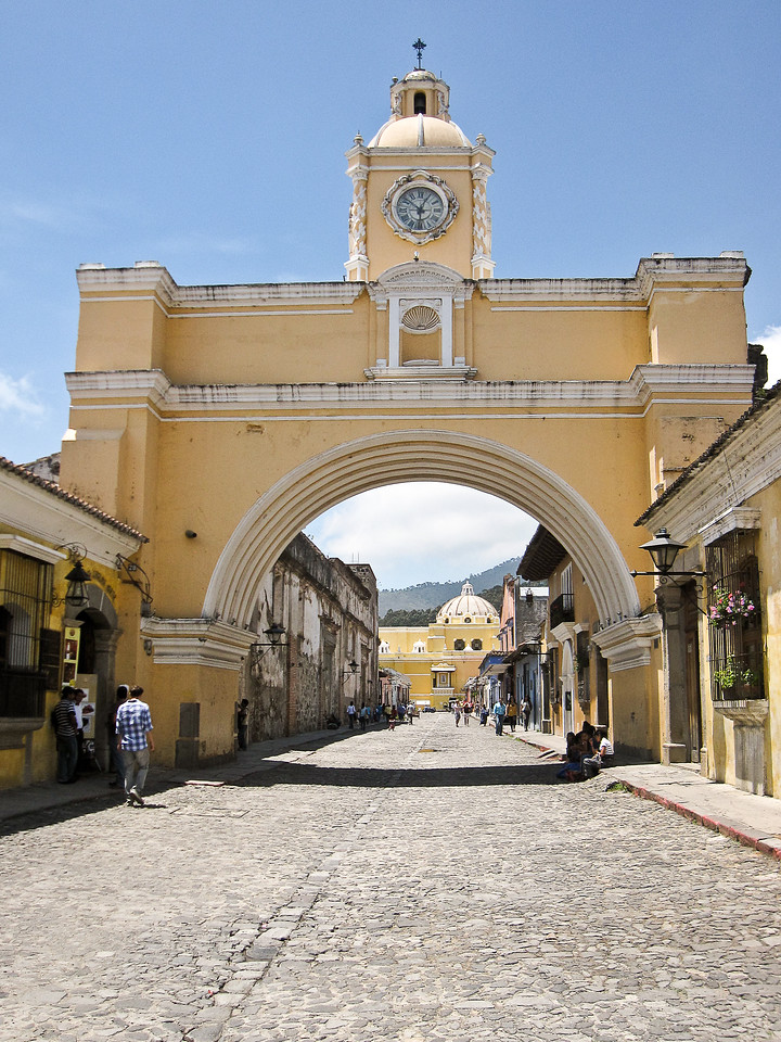 The streets of Antigua are cobbled and lovely.
