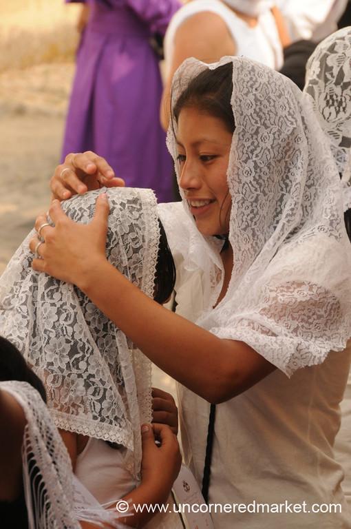 Women in White Veils, Semana Santa - Antigua, Guatemala