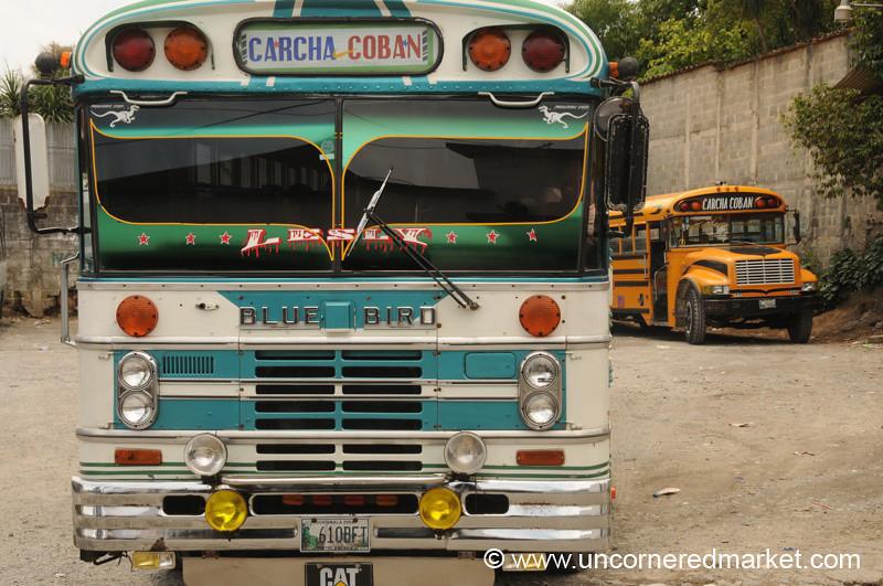 Chicken Bus - Coban, Guatemala