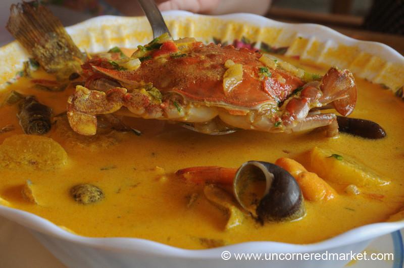 Guatemalan Food, Tapado - Livingston, Guatemala