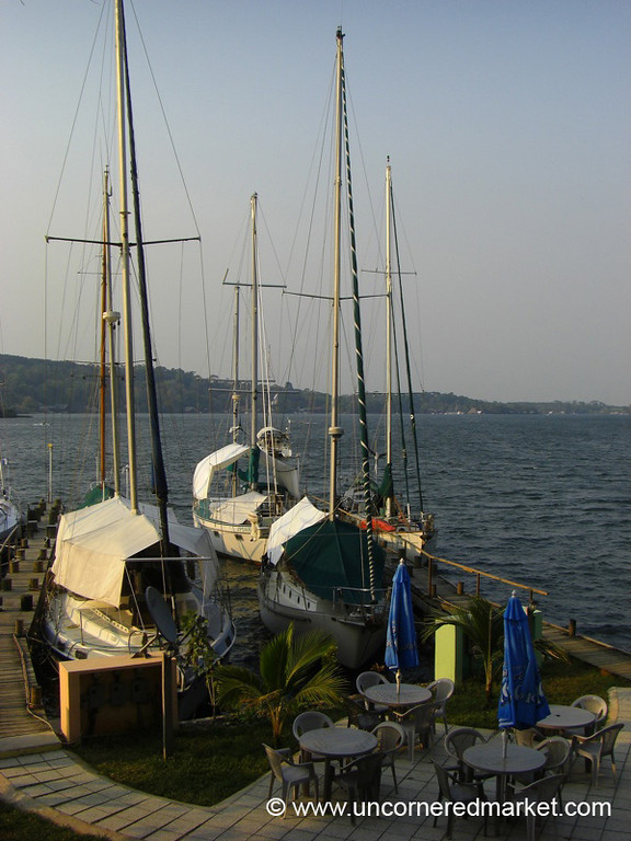 Yachts Docked in Rio Dulce, Guatemala