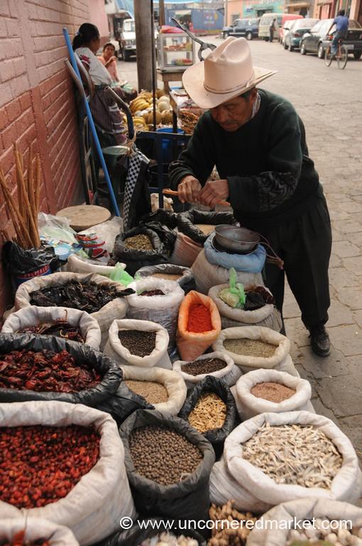 Ingredients for Pepian at Market - Xela, Guatemala