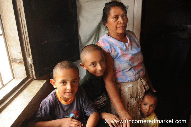 Kiva Borrower with Grandsons - Villa Nueva, Guatemala