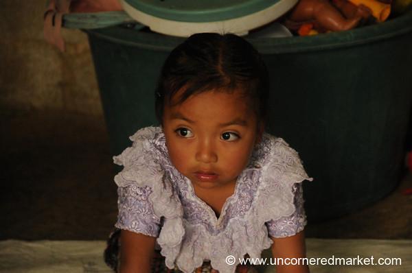 Young Indigenous Guatemalan Girl - San Pedro Sacatepequez, Guatemala