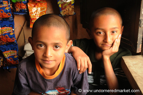 Guatemalan Boys with Big Eyes - Villa Nueva, Guatemala