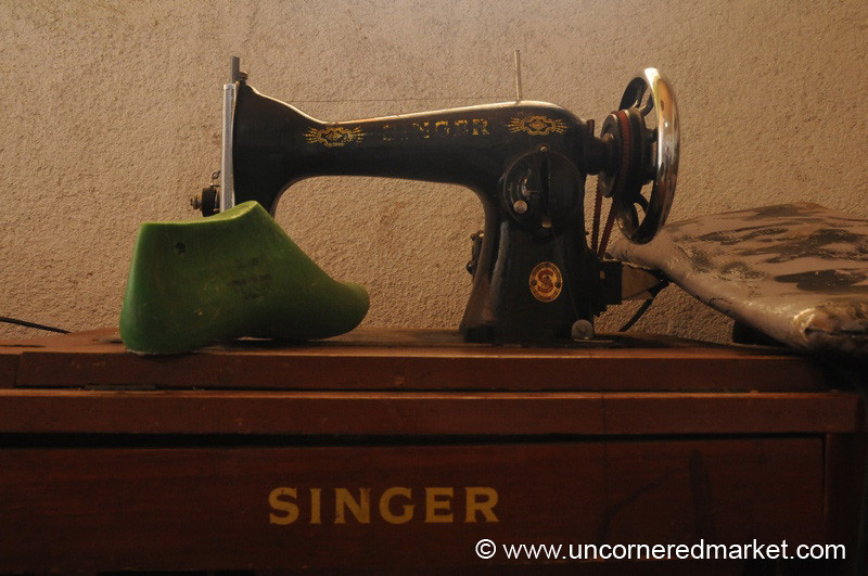 Shoe Model and Sewing Machine - Chesuc, Guatemala