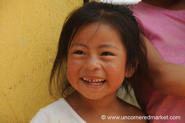 Laughing Guatemalan Girl - San Pedro Sacatepequez, Guatemala