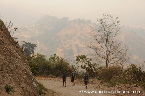 Trek to Lake Atitlan, Dusty Road - Guatemala