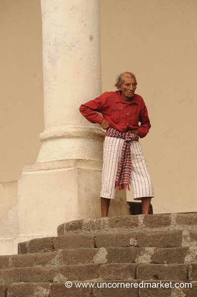 Guatemalan Indigenous Man - Santiago La Laguna, Guatemala