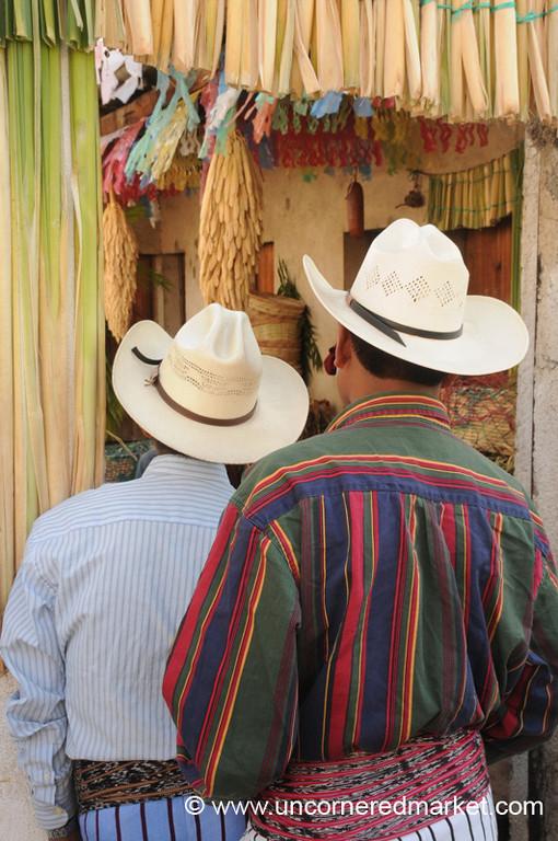 Santiago La Laguna, Men in Hats - Guatemala