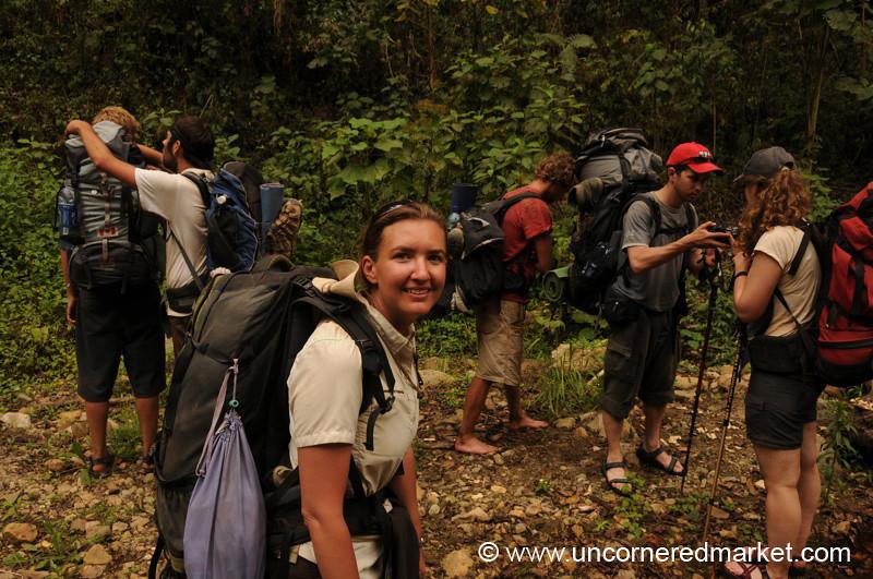 Audrey with Trekking Group to Lake Atitlan, Guatemala