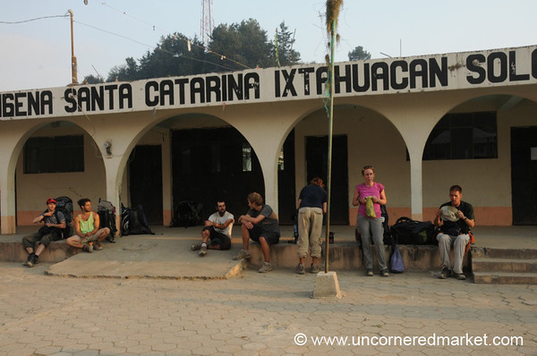 Trekkers Take a Rest - Santa Catarina, Guatemala