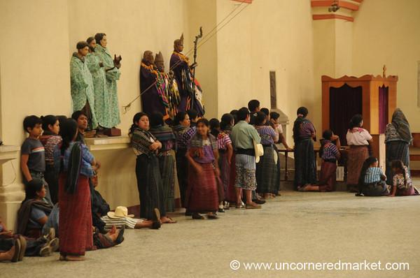 Lined Up for Confession - Santiago La Laguna, Guatemala