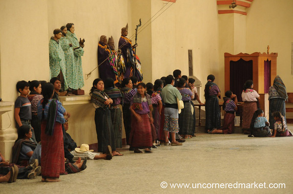 Lined Up for Confession - Santiago La Laguna, Guatemala