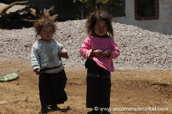 Guatemalan Little Girls - Lake Atitlan, Guatemala