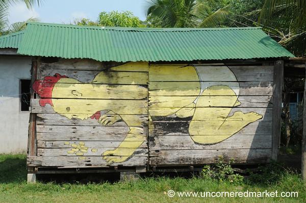 Chicken Baby Street Art - Livingston, Guatemala