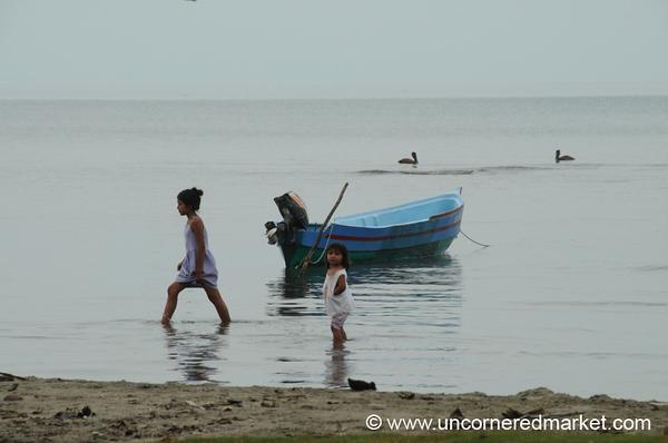 Children at the Beach - Livingston, Guatemala