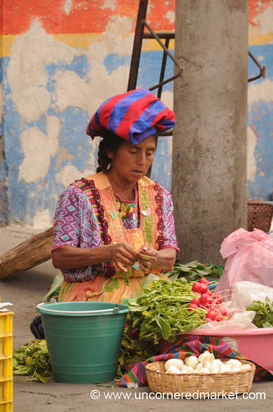 Guatemalan Vendor - Xela, Guatemala
