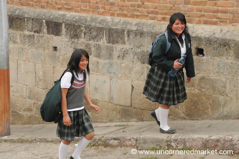 Guatemalan School Girls - Xela, Guatemala