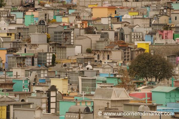 Mausoleums at the Cemetery - Xela, Guatemala