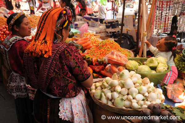 Indigenous Vendors at Xela Market, Guatemala