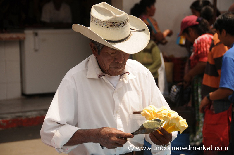 Guatemalan Ice Cream Vendor - Xela, Guatemala