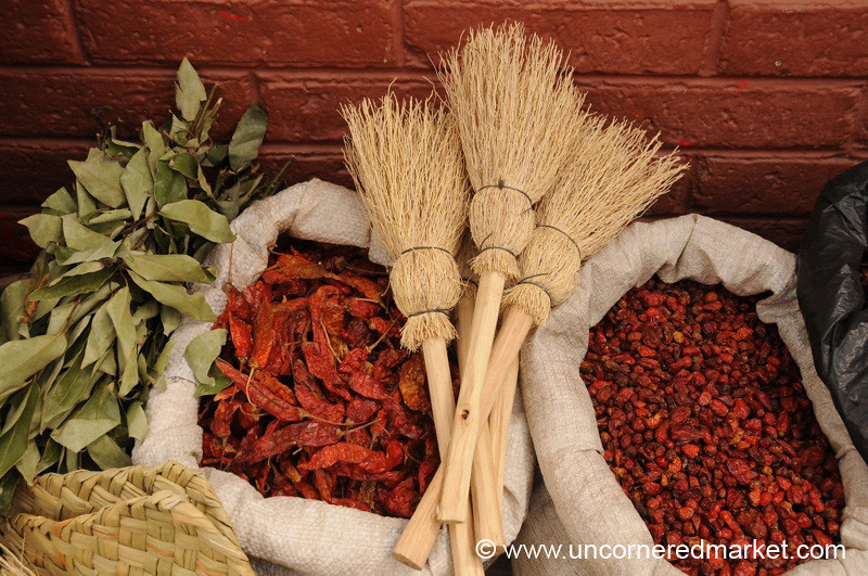 Brooms and Chili Peppers - Xela, Guatemala