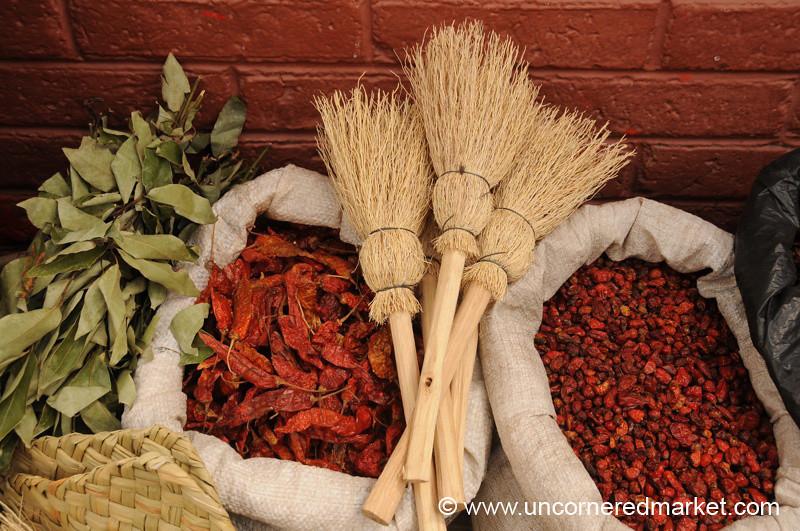 Brooms and Chili Peppers - Xela, Guatemala