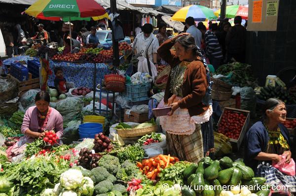 Xela Market Scene, Guatemala