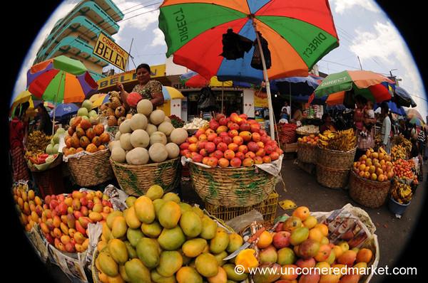 Fisheye Fruit Stand - Xela, Guatemala