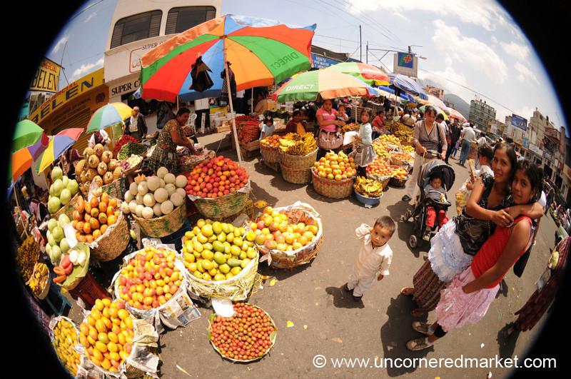Piles of Fruit at Xela Market, Guatemala
