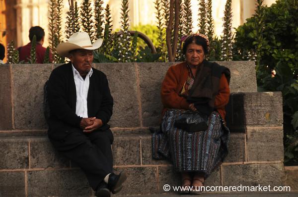 Old Guatemalan Couple - Xela, Guatemala