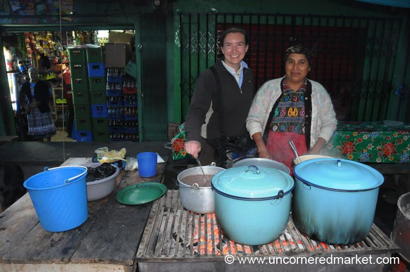Audrey with Guatemalan Vendor - San Francisco El Alto, Guatemala