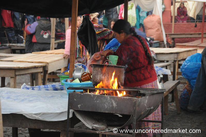 San Francisco El Alto Market, Portable Wood Stove - Guatemala