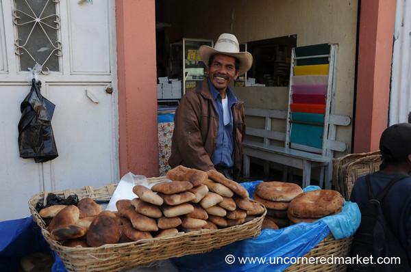 Guatemalan Bread Salesman - San Francisco El Alto, Guatemala