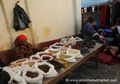 Spice Stand at Market - San Francisco El Alto, Guatemala