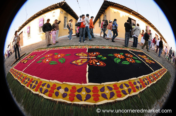 Alfombra in Fisheye, Semana Santa - Antigua, Guatemala