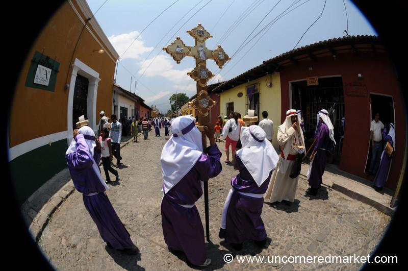 Semana Santa Cross - Antigua, Guatemala