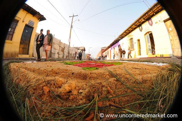 Layers of Sawdust of Alfombra, Semana Santa - Antigua, Guatemala