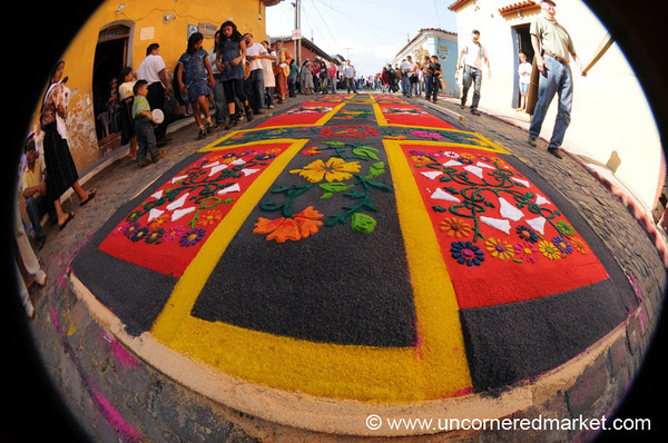 Good Friday Alfombra, Semana Santa - Antigua, Guatemala