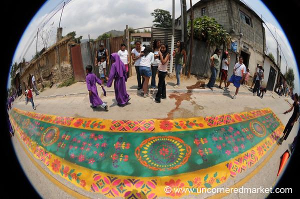 Sawdust Carpet (Alfombra) - Semana Santa, Antigua