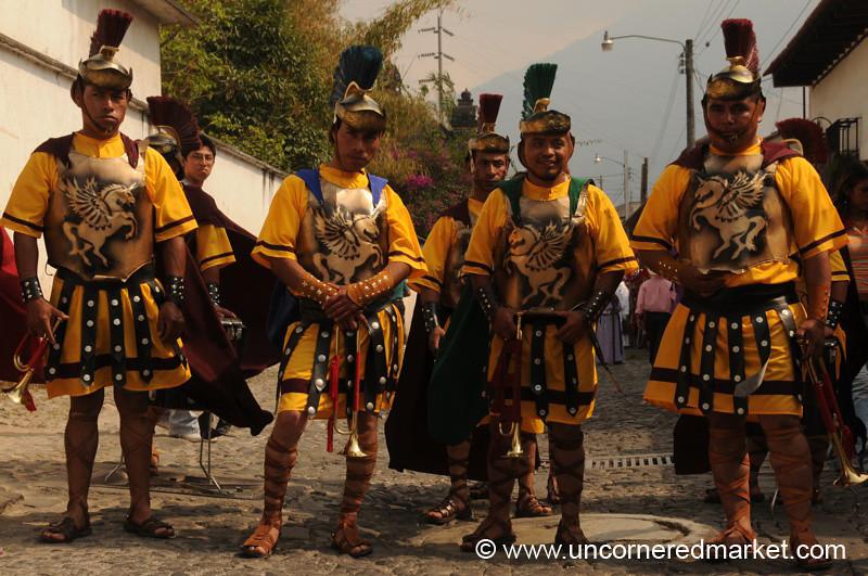 Roman Soldiers, Semana Santa - Antigua, Guatemala