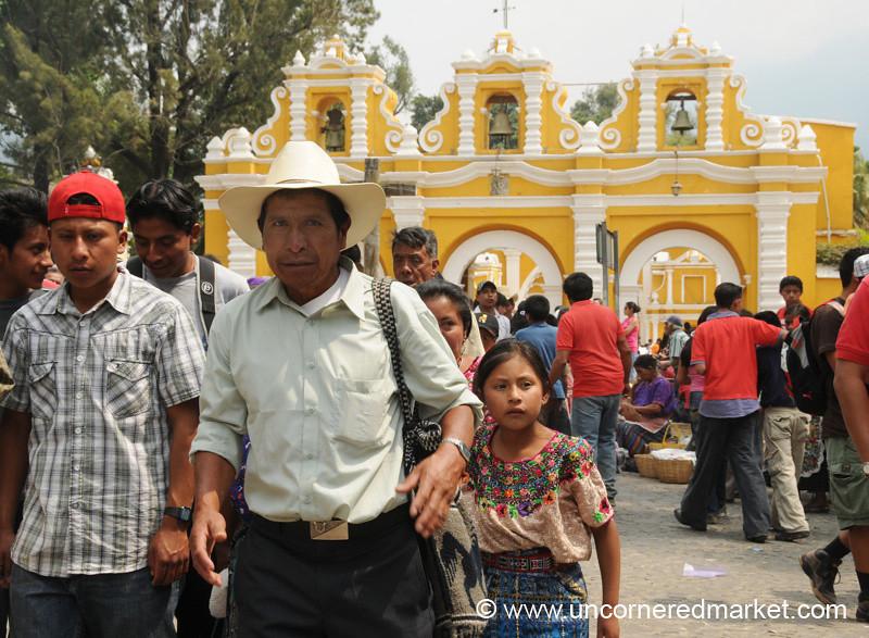 Family at El Calvario, Semana Santa - Antigua, Guatemala