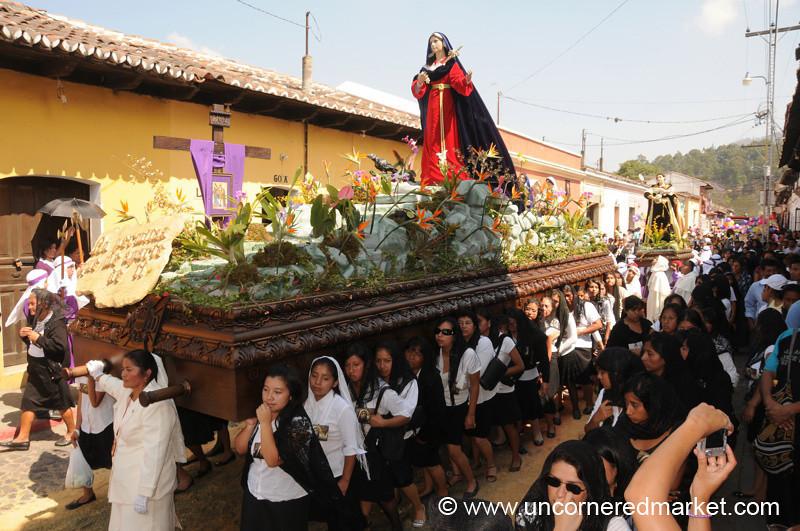 Women Carrying Float, Semana Santa - Antigua, Guatemala