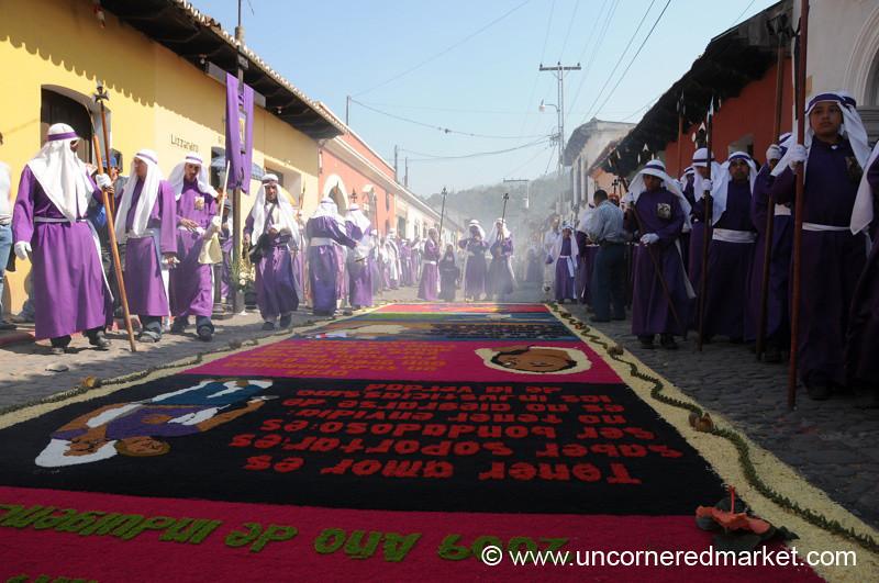 Streets Filled With Incense, Semana Santa - Antigua, Guatemala