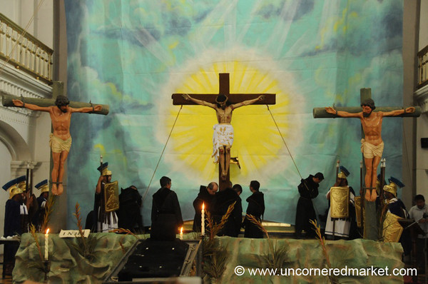 Semana Santa, Crucifixion Ceremony - Antigua, Guatemala