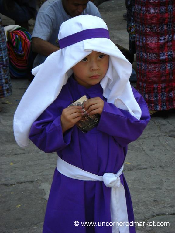 Little Boy Dressed Up for Semana Santa - Antigua, Guatemala