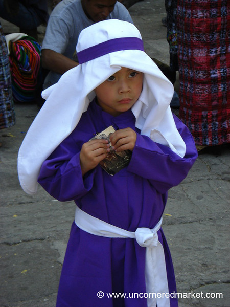 Little Boy Dressed Up for Semana Santa - Antigua, Guatemala
