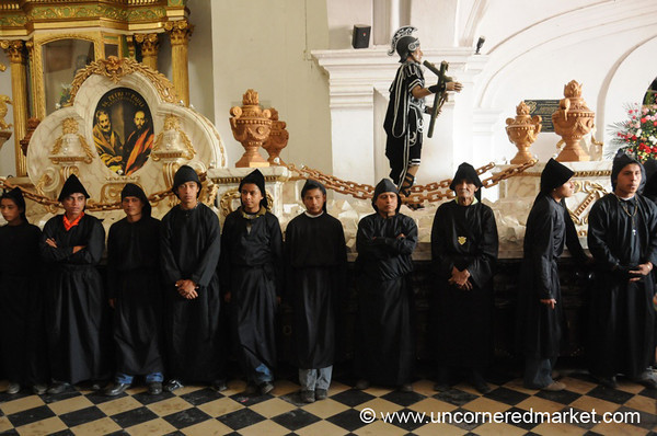 Good Friday Procession, Black Robes - Antigua, Guatemala